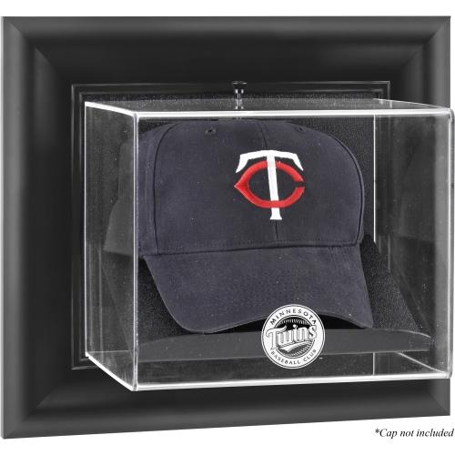 Minnesota Twins Fanatics Authentic Black Framed Wall-Mounted Logo Cap Display Case - No Size
