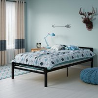 Mainstays Premium Metal Platform Bed, Twin, Multiple Colors