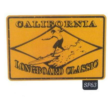 Seaweed Surf Co SF63 Enseigne en aluminium 12X18 Ca Longboard Classic - image 1 de 1