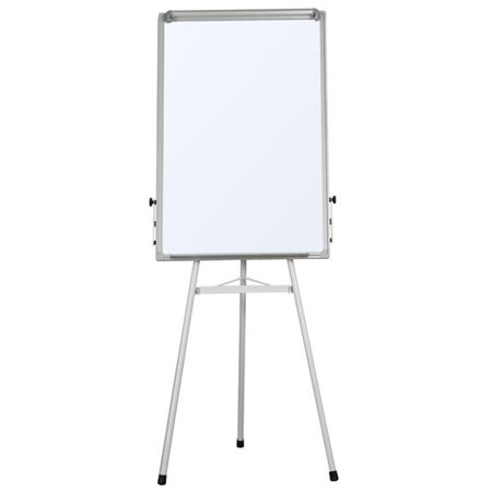 (Portable Dry Erase Easel Magnetic White Board Dry Erase Board Tripod Whiteboard Flipchart Easel Height Adjustable for Office/Home/School Use with 1 Eraser,3 Magnets(36x24 inches))