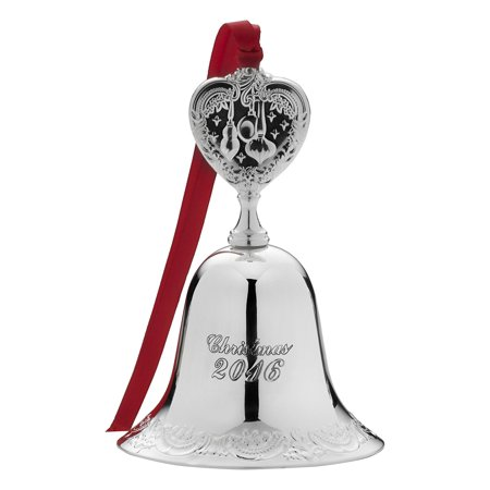 2016 Silver Plate Grande Baroque Bell Ornament, 22Nd Edition, This sterling silver ornament will add a beautiful touch of joy to a holiday package, tree or mantel By Wallace