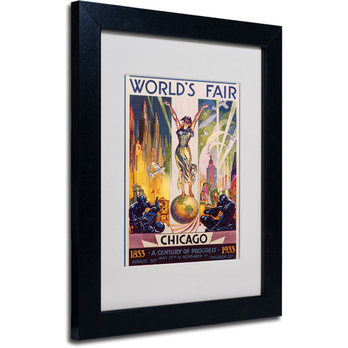 Trademark Fine Art 'World's Fair Chicago' Matted Framed Art by Glen Sheffer