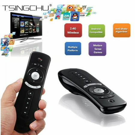 Gyroscope Mini Fly Air Mouse T2 2 4G Wireless Keyboard Mouse Android Remote  Control 3D Sense Motion Stick for Tvbox