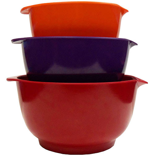 Gourmet Home Products 3-Piece Melamine Non-Skid Batter Bowl Set