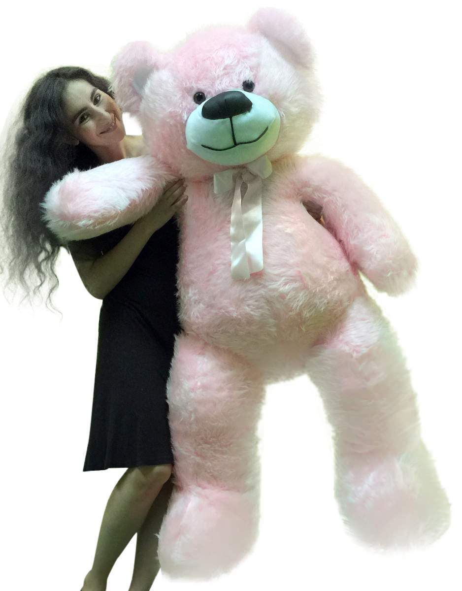 5 Foot American Made Giant Pink Teddy Bear 6o Inch Soft Made in USA by Big Plush