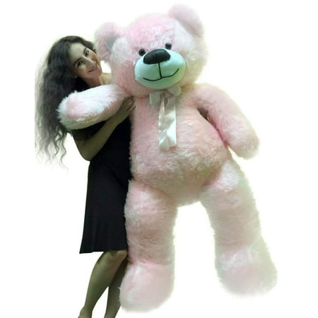 5 Foot American Made Giant Pink Teddy Bear 6o Inch Soft Made in USA (America Teddy Bear)