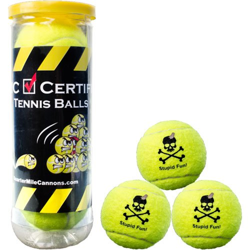 Quarter Mile Cannons Certified Tennis Balls Set of 3 by