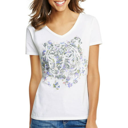 f8e263630 Hanes - Hanes Women's Short Sleeve Printed V-neck - Walmart.com