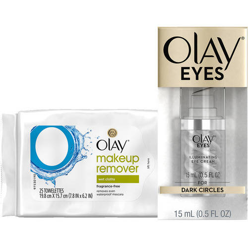 Olay Eyes Illuminating Eye Cream with Bonus Makeup Remover Wipes