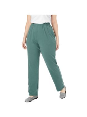 e7a8e8ccbf Product Image Woman Within Plus Size 7-day Knit Straight Leg Pant