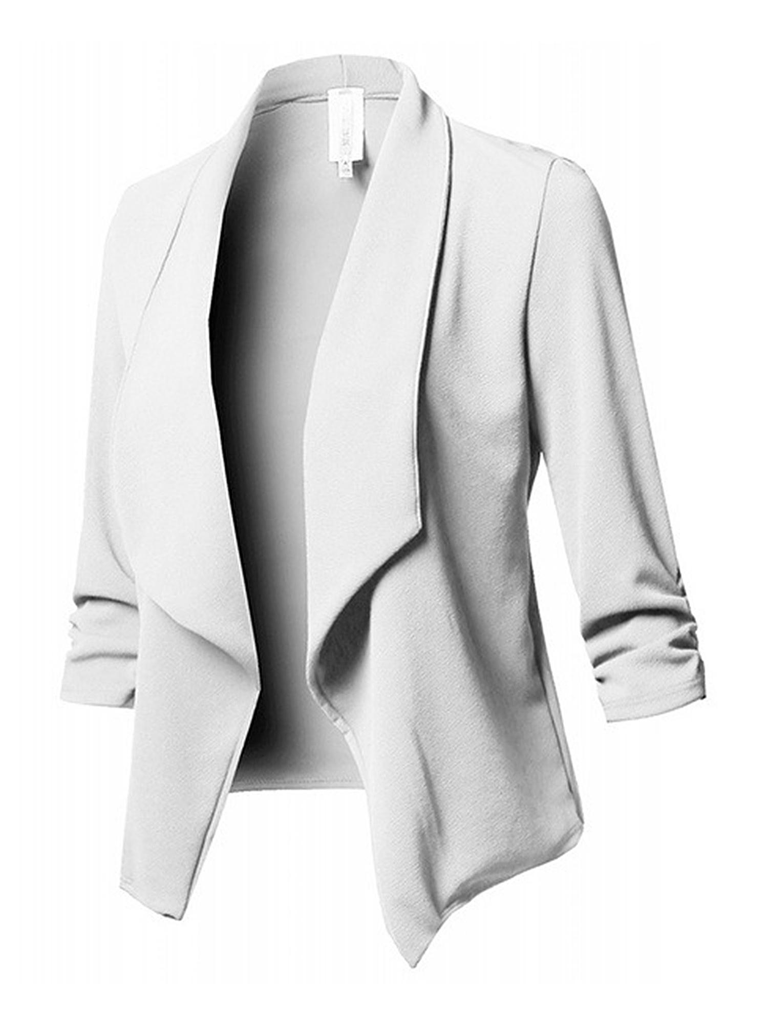 Womens Ladies Casual Open Front Cardigan 3//4 Sleeve Cardigan Jacket Coat Blazer