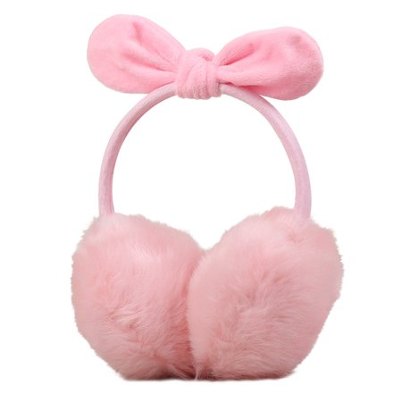 Lady Warm Earmuff Female Imitation Rabbit Hair Adult Cute Bowknot Christmas Gifts in Winter Autumn - image 1 de 3