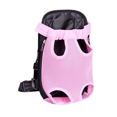"""Topcobe Pet Carrier Backpack Front Net Bag for Puppy Dog / Cat, Tote Sling Carrier Pet Travel Bag, T028PXL Comfort Travel Tote Shoulder Bag Prefer Pets Backpack Carrier (Pink, XL:16.53""""x9.44"""")"""