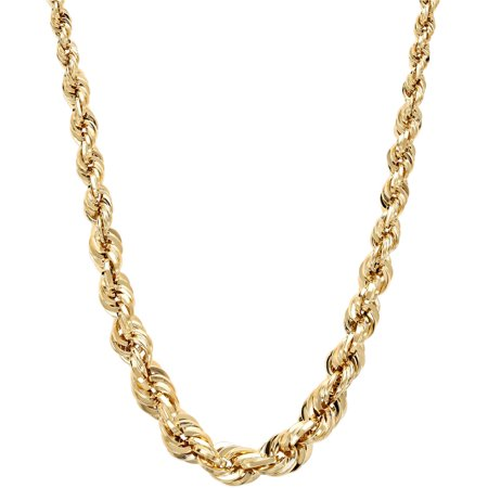 Simply Gold 10Kt Gold 2 2 6Mm Graduated Rope Necklace