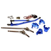 Integy RC Toy Model Hop-ups C24449BLUE V2 4WS Conversion Kit for Axial 1/10 Wraith