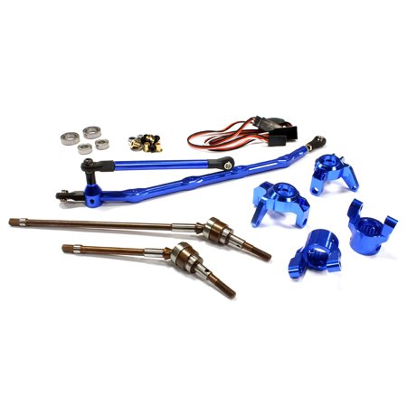 Integy RC Toy Model Hop-ups C24449BLUE V2 4WS Conversion Kit for Axial 1/10 Wraith - Model Retrofit Conversion Kit