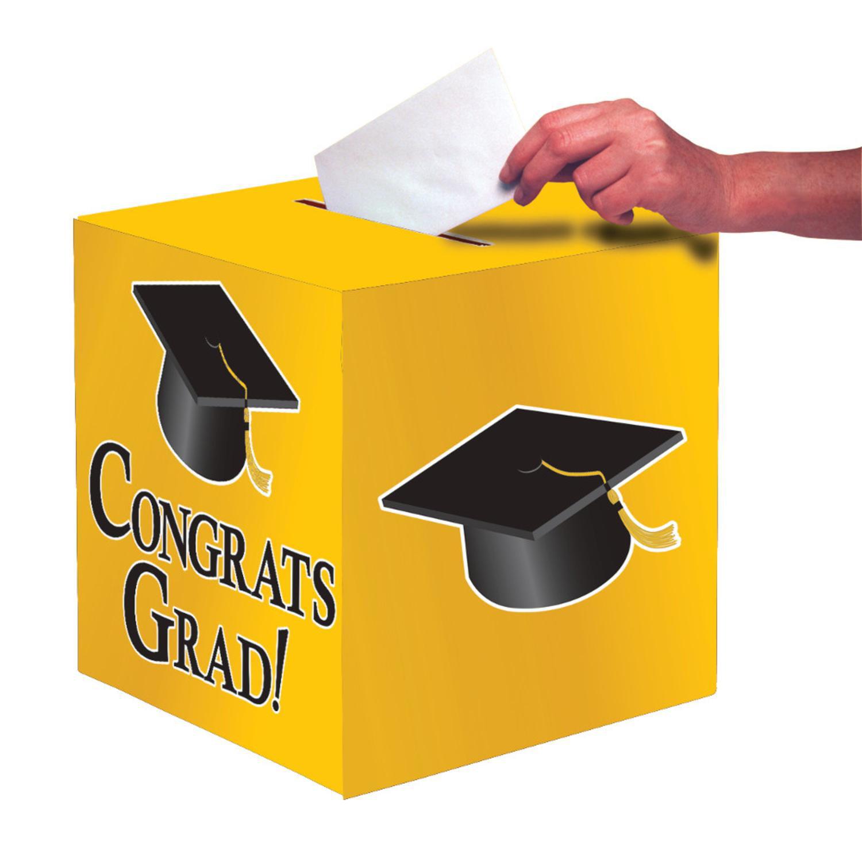 "Club Pack of 6 School Bus Yellow ""Congrats Grad"" Decorati..."
