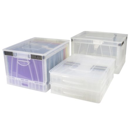 Folding Storage Cube with Lid, Clear (Case of