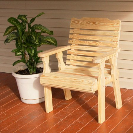 - Amish Heavy Duty 600 Lb Classic Pressure Treated Patio Chair (Unfinished)