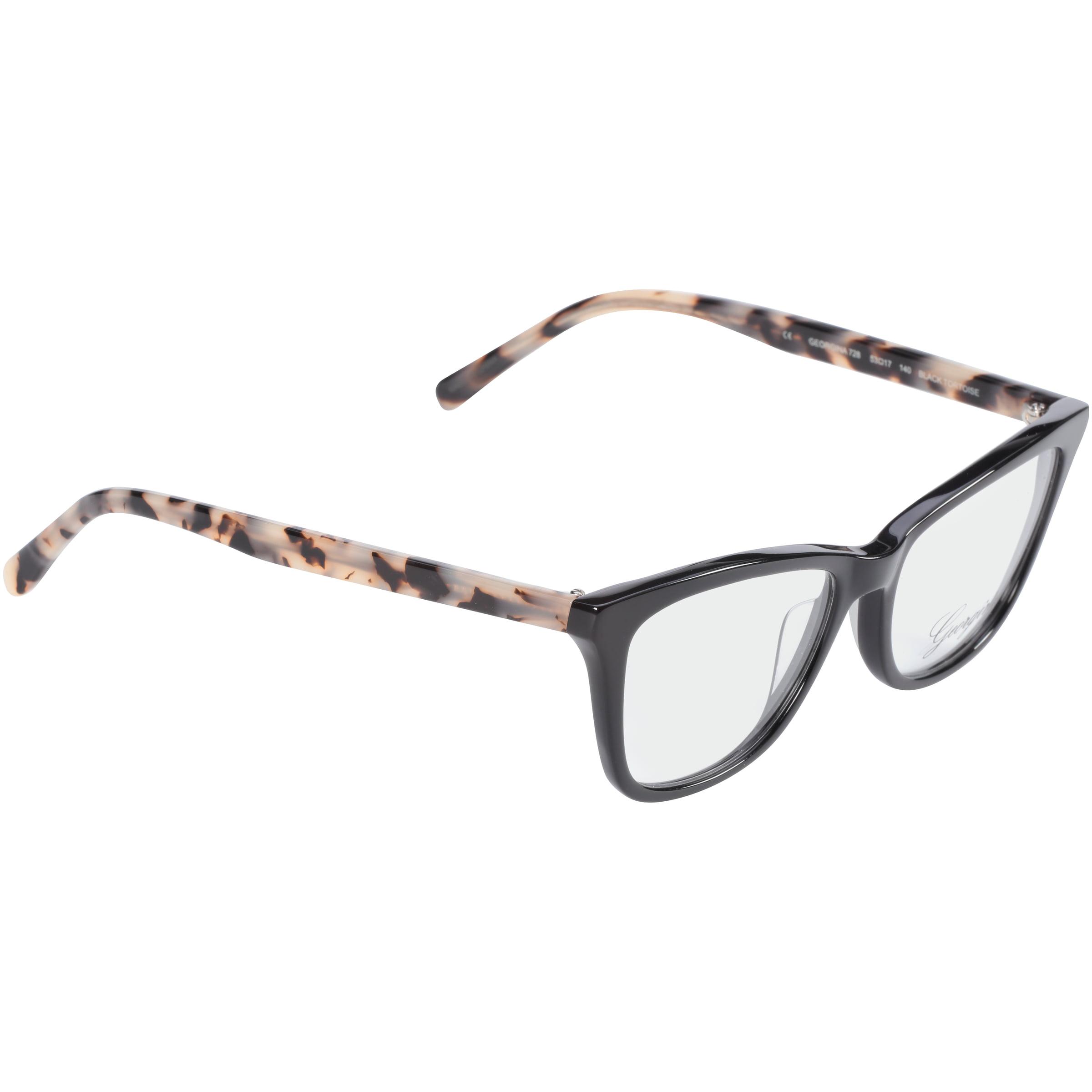b21d7d39cbb3 Georgina Eyewear Rx-able Eyeglass Frames 728 Black Tortoise - Walmart.com