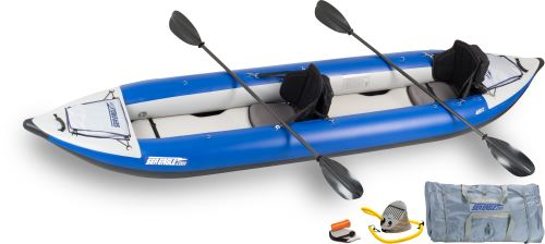 Click here to buy Sea Eagle 420X Explorer Inflatable Kayak Pro Carbon Package by Sea Eagle Boats, Inc..