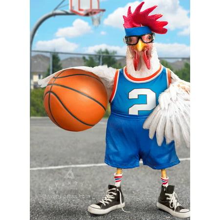 3d Lenticular Business Card (Avanti Press Rooster Basketball Lenticular Motion 3D Funny Birthday Card)