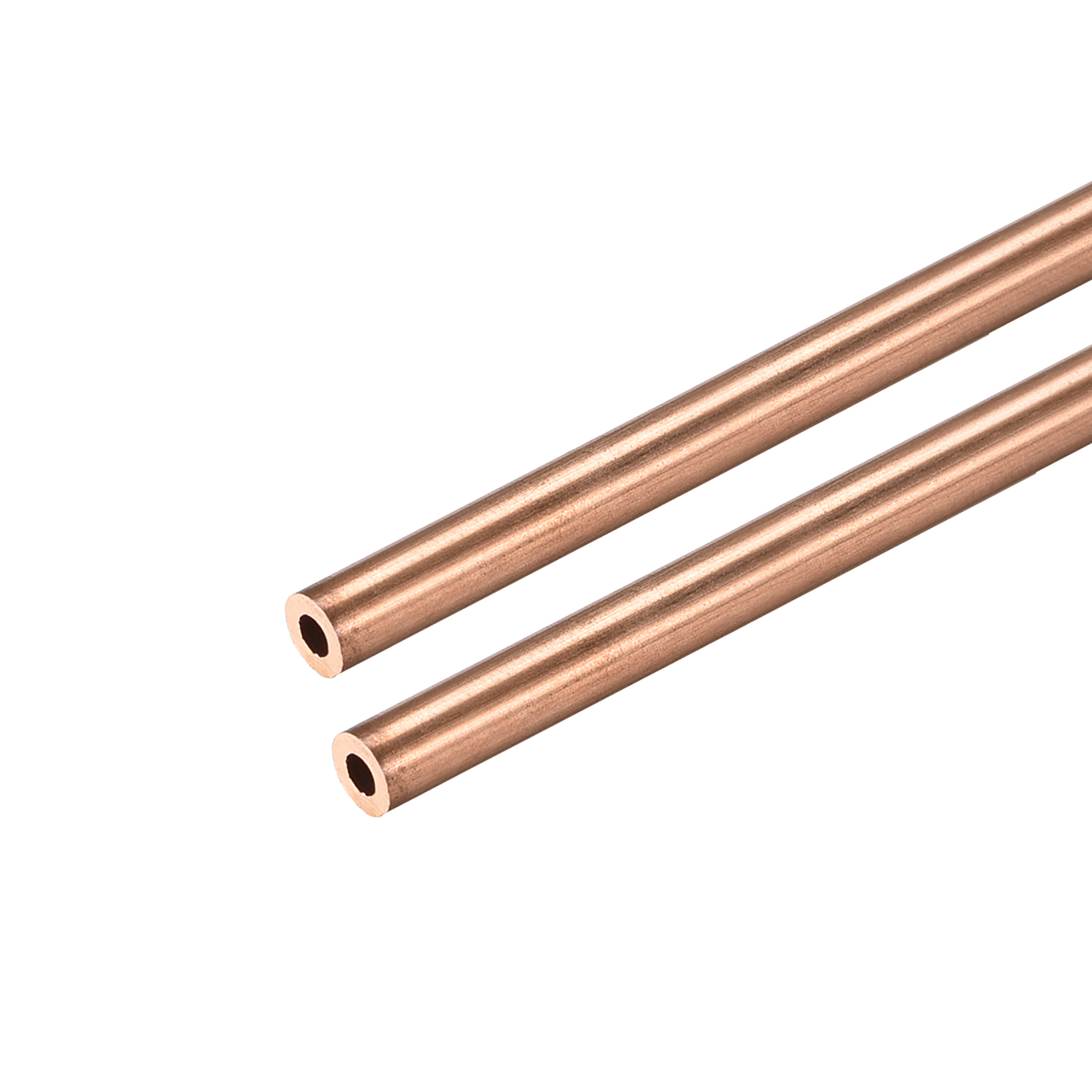 Copper Round Tube 4mm OD 1mm Wall Thickness 300mm Long Pipe Tubing 3 Pcs