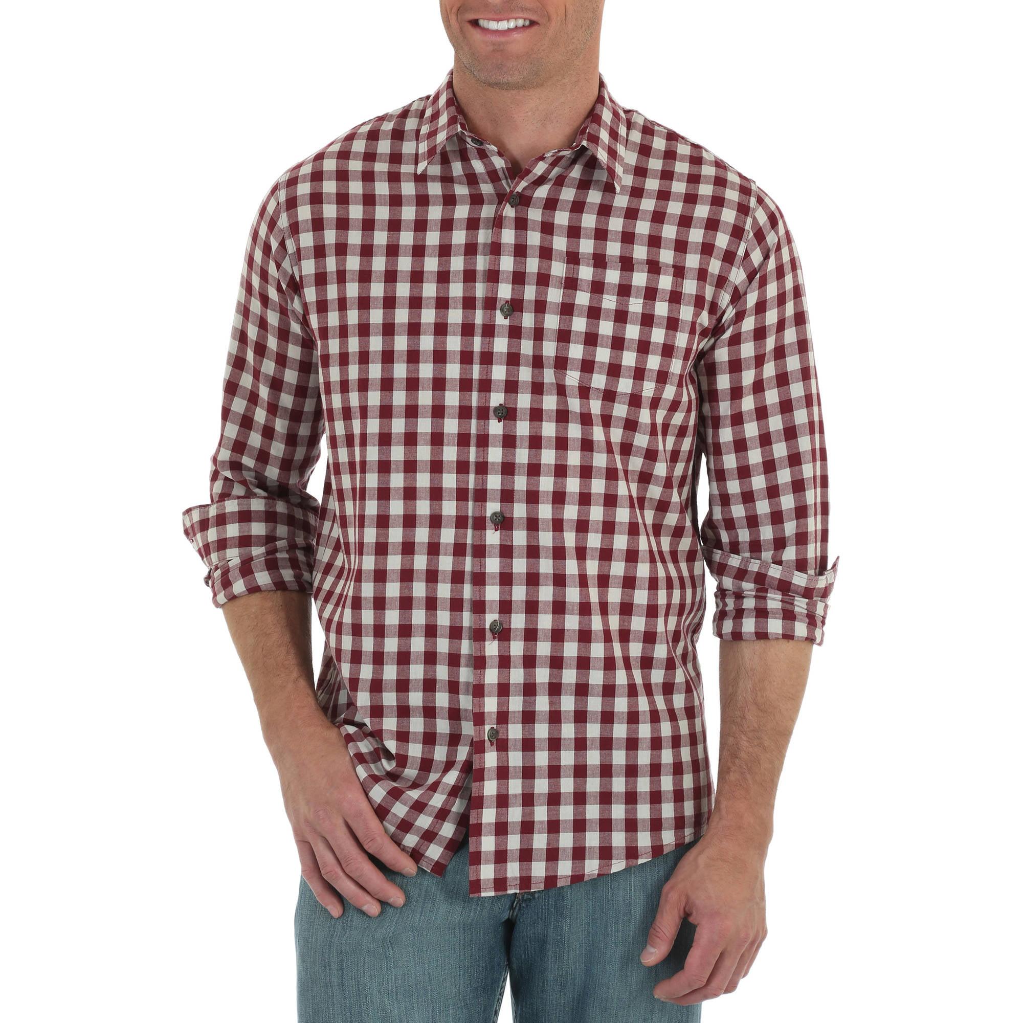 Jeans Co. Men's Long Sleeve Woven Shirt