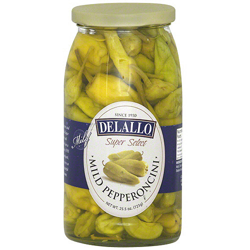 Delallo Mild Pepperoncini, 25.5 oz (Pack of 6)
