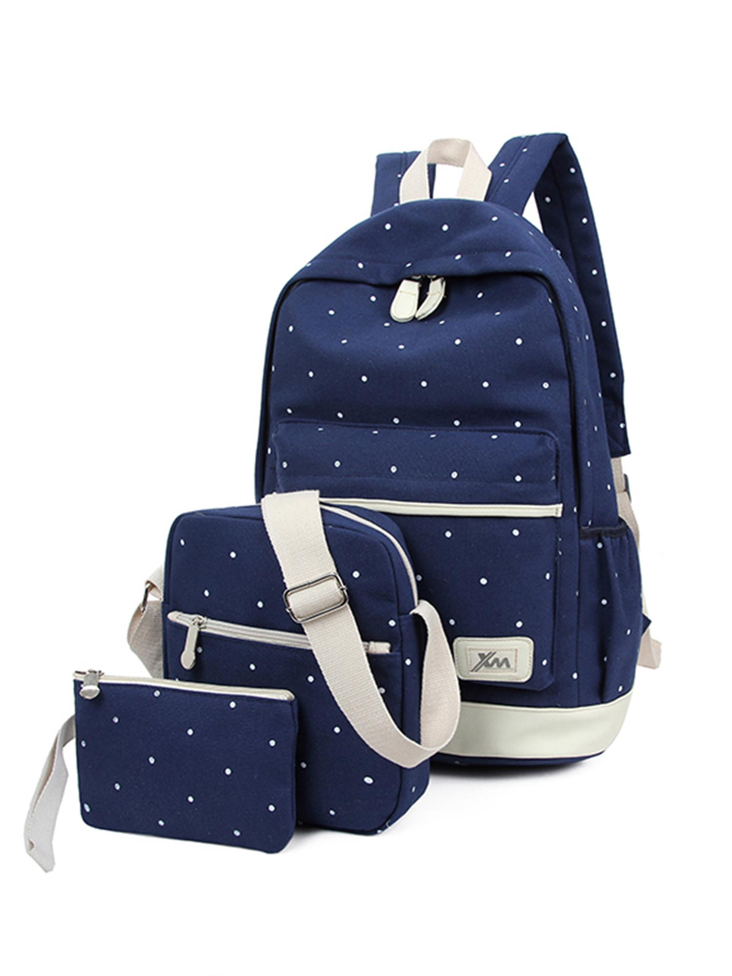 Rival Sons Fashion Casual Canvas Bag School College Backpack For Girls Black