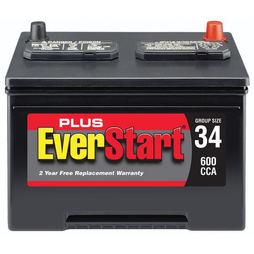 EverStart Plus Lead Acid Automotive Battery, Group Size 34-3 ...
