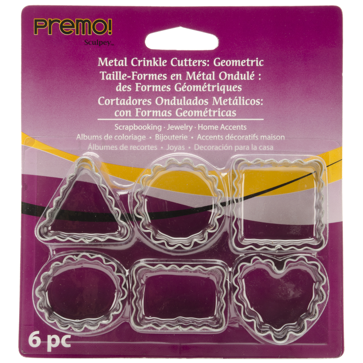 Premo Metal Crinkle Cutters , 6 per package