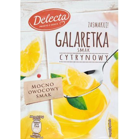 - Delecta Galaretka o Smaku Cytrynowym Lemon Jelly Mix (5-Pack)