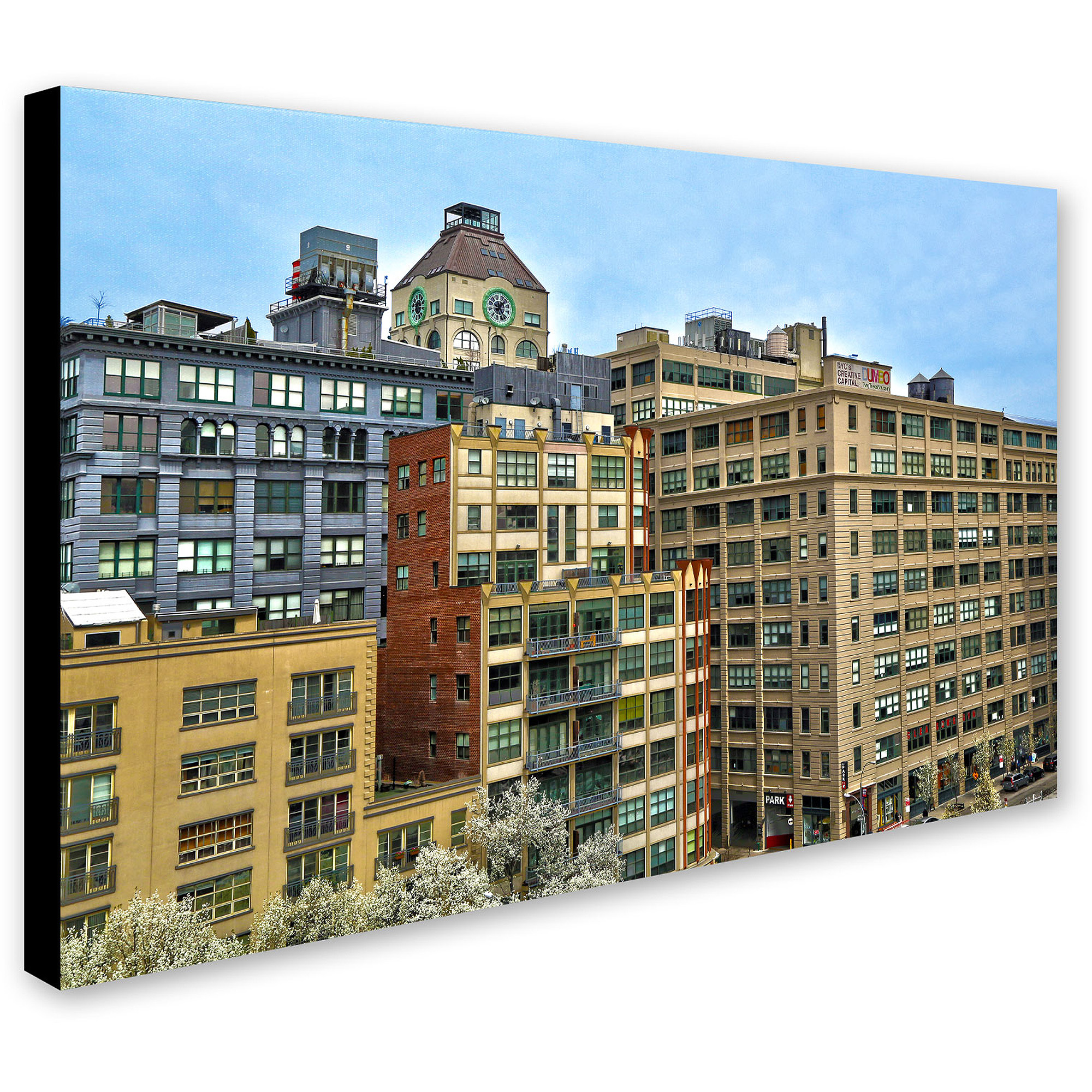 "Trademark Fine Art ""Brooklyn 2"" Canvas Art by CATeyes"