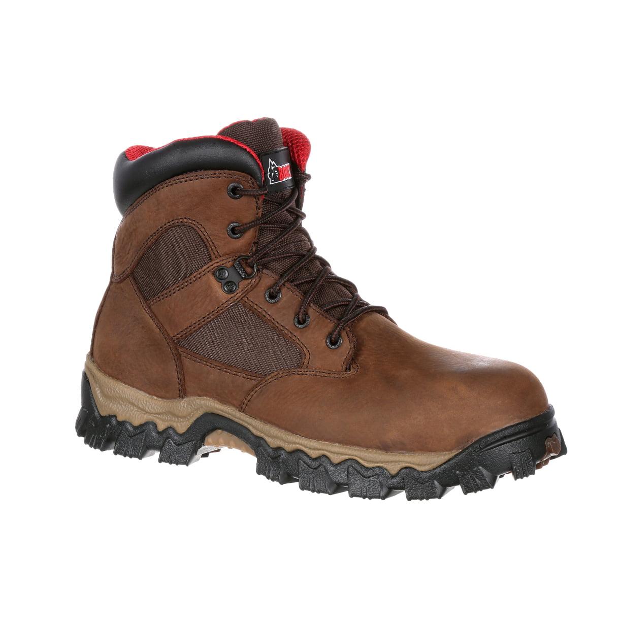 Rocky Men's AlphaForce 6'' Composite Toe Waterproof Work Boots Brown Leather 11.5 M by ROCKY BRANDS