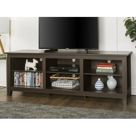 Walker Edison Wood Tv Media Storage Stand For S Up To 78 Espresso