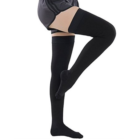 6fa91e51d5 Ailaka Closed Toe Thigh High 20-30 mmHg Compression Stockings for Women and  Men,