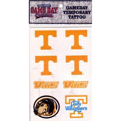 (Tennessee Volunteers 8 Piece Temporary Face Tattoo Decals)