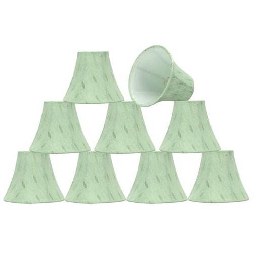 Aspen Creative Corporation 6'' Fabric Bell Candelabra Shade (Set of 9)