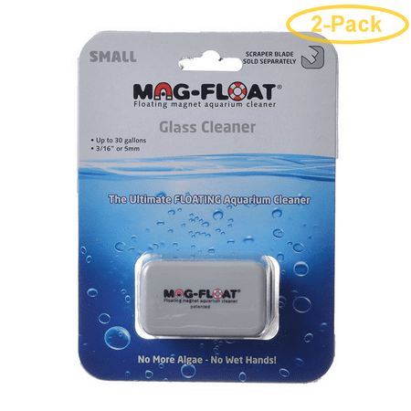 Mag Float Floating Magnetic Aquarium Cleaner - Glass Small (30 Gallons) - Pack of 2 Mag Float 30 Magnet