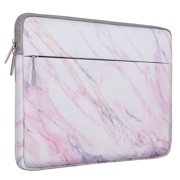 Mosiso Laptop Sleeve Bag 15-15.6 Inch MacBook Pro Ultrabook Notebook Computer Canvas Marble Pattern Protective Tablet Carrying Case Cover