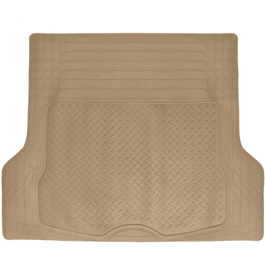 BDK Heavy Duty Cargo Trunk Car Floor Mat - All Weather Rubber Liner for Car, SUV, Van