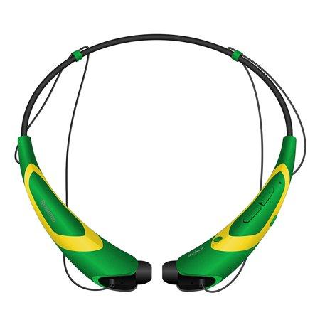 Rymemo Metallic-feeling Soft Polishing Stereo Bluetooth Headphones Sports Headset Earphones Earbuds