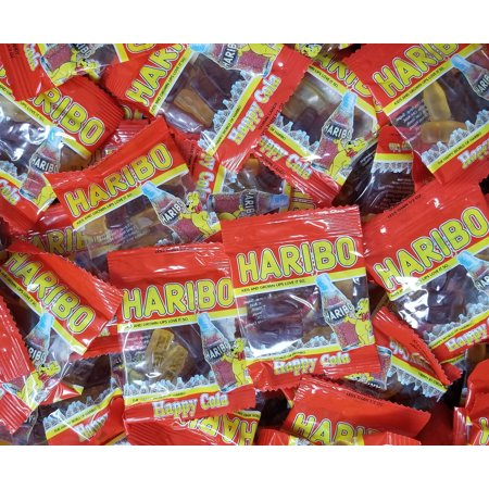 Haribo Happy Cola Gummy Candy, Individual Mini Packs 90-Count, Delicious Happy Cola Flavors, Bulk 3 lbs