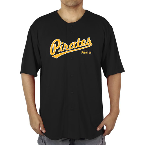 MLB Pittsburgh Pirates Big Men's Poly Button Down Jersey