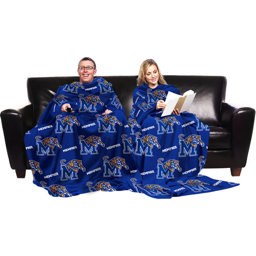 NCAA Memphis Tigers Blanket with Sleeves