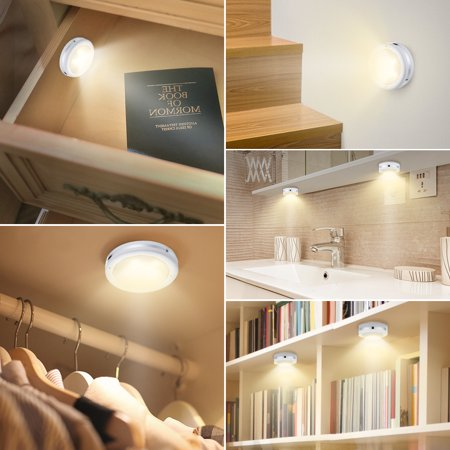 Wireless Led Puck Lights Kitchen Under Cabinet Lighting With