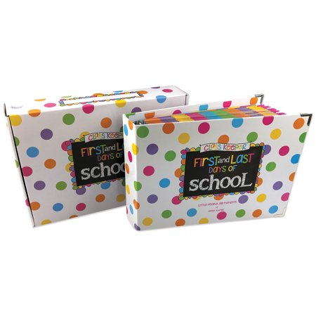 First Day & Last Day of School Memory Book Keepsake Album, Preschool thru College, (Class Keeper - Pastel Dots)