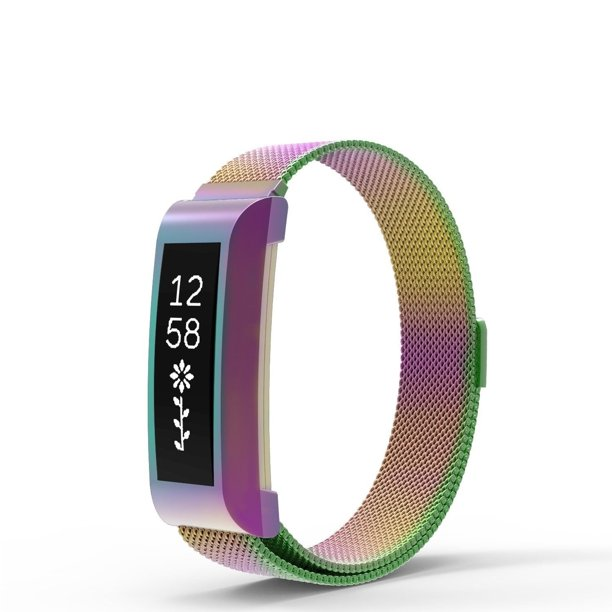 Tech Elements Tech Elements Wrist Fitbit Alta Alta Hr Band Milanese Loop Stainless Steel Band For Fitbit Alta Alta Hr Watch Rainbow Walmart Com Walmart Com