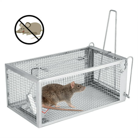 Keenso 26.2*14*11.4cm Rat Trap Cage Small Live Animal Pest Rodent Mouse Control Bait Catch, Pest Trap Cage,Mouse Trap,Small Animasl Humane Live Cage Rat Mouse Trap